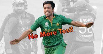 MUHAMMAD AMIR RETIRES FROM TEST CRICKET