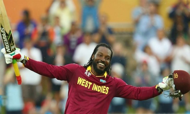 Chris Gayle the hight runs scorer for the west indies in ODI cricket