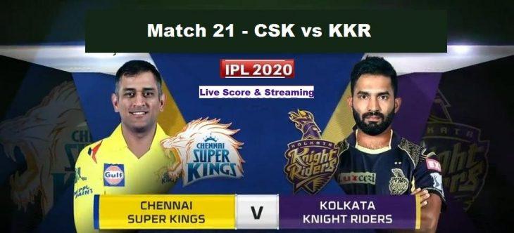 kkr vs csk match21