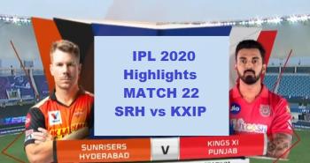 SRH Vs KXIP Highlights