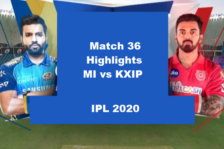 MI Vs KXIP Highlights 2020