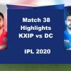 KXIP Vs DC Highlights 2020