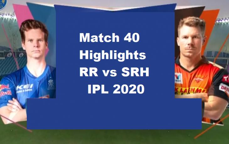 RR Vs SRH Highlights 2020