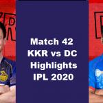 KKR Vs DC Highlights 2020