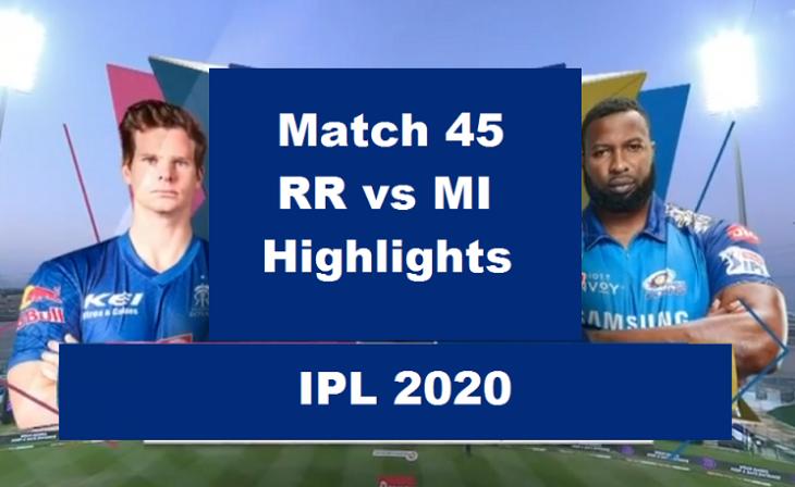RR Vs MI Highlights 2020