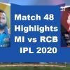MI Vs RCB Highlights 2020