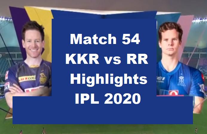 KKR Vs RR Highlights 2020