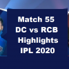 DC Vs RCB Highlights 2020