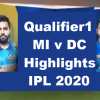 IPL Qualifier1 MI Vs DC Highlights 2020