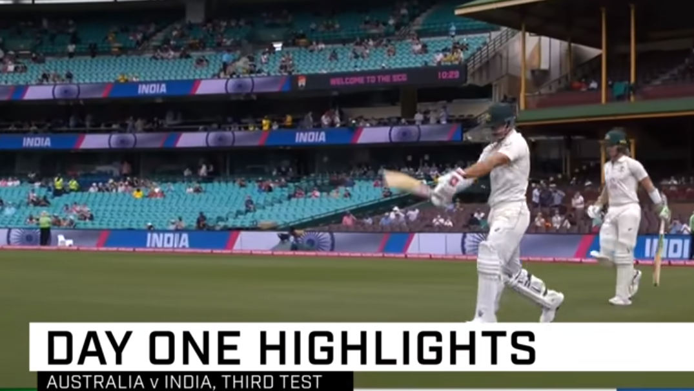 india vs australia highlights 3rd Test